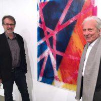 Künstler Paul Schwer (li.) und Galerist Karl Pfefferle (re.)
