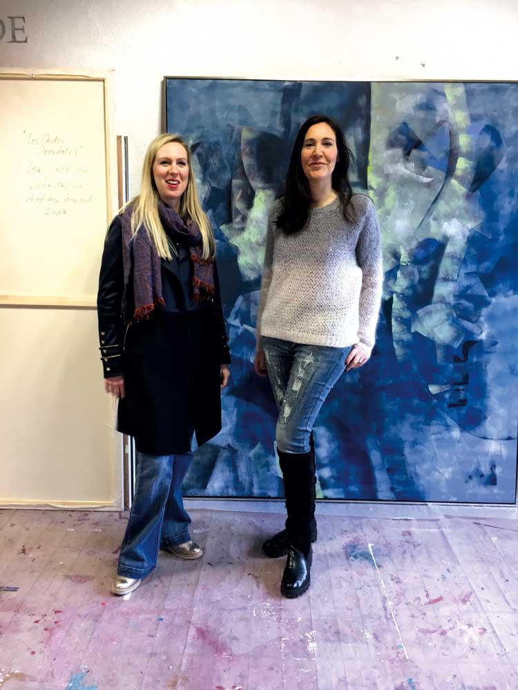 Claudine und Lea Jade / Engl Atelierhaus