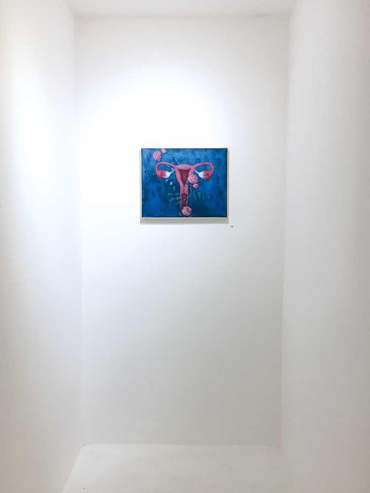 Die Künstlerin Samantha Gray lebt und arbeitet in Charlottesville, USA. Sie stilisiert mit ihrer rosenberankten Vagina mit Uterus das weibliche Geschlecht zur Ikone.