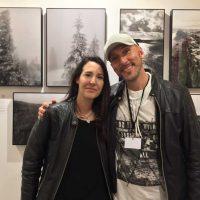 ARTMUC 2nd Edition 2018 / Claudine mit Künstler JULIEN