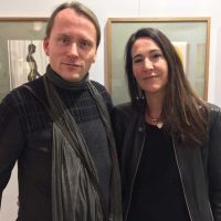 ARTMUC 2nd Edition 2018 / Claudine mit Künstler Thomas Sing